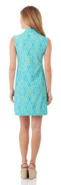 Jude Connally Kristen Tunic Dress in Painted Diamonds Turquoise - FINAL SALE