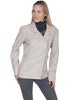 Scully Long Motorcycle Jacket in Cream Lamb L731