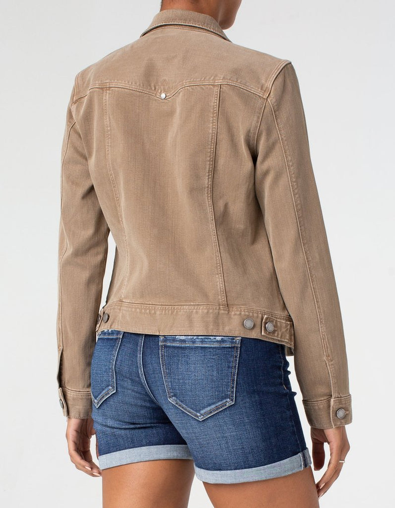 Liverpool Jeans Classic Stretch Denim Jacket in Tannin - Saratoga Saddlery & International Boutiques