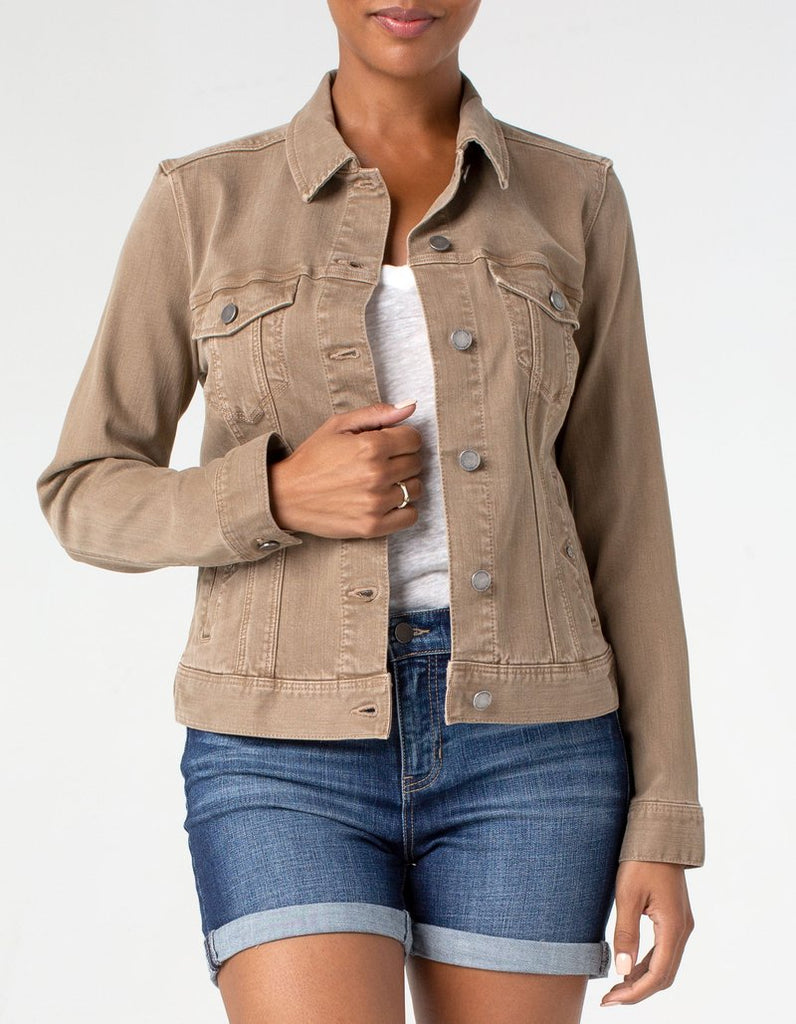 Liverpool Jeans Classic Stretch Denim Jacket in Tannin