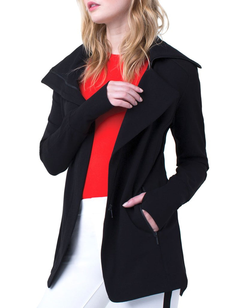 Liverpool Jeans Asymmetrical Super Stretch Ponte Jacket - Saratoga Saddlery & International Boutiques
