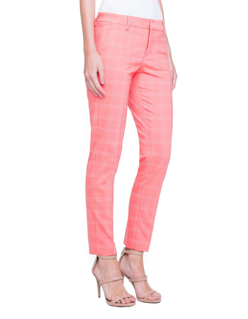 Liverpool Kelsey Straight Leg Trouser in Coral Reef