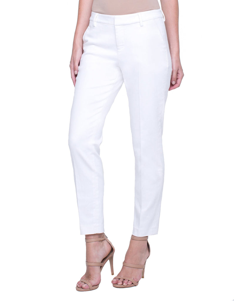 Liverpool Kelsey Straight Leg Trouser in Bright White - Saratoga Saddlery & International Boutiques