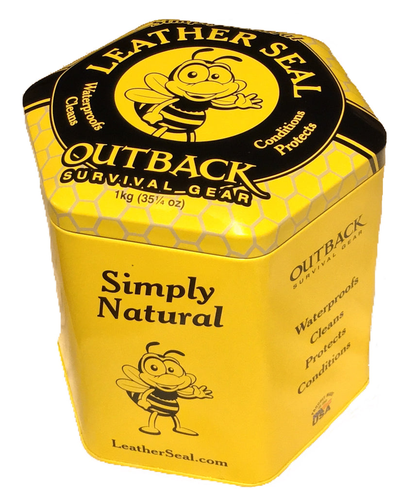 Outback Survival Gear Leather Seal - 1kg (2lb) Tub at Saratoga Saddlery
