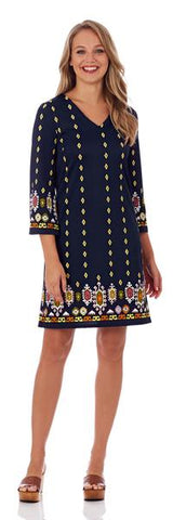 Jude Connally Chelsea Shift Dress in Jack Jack Navy