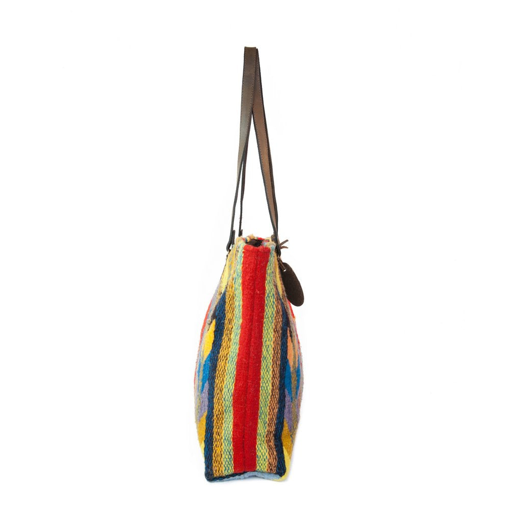MZ Fair Trade Textiles Lightning + Corn Wool Tote 19-8769