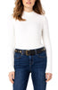 Liverpool Women's Top MOCK NECK White LONG SLEEVE KNIT TOP in Snow White - Saratoga Saddlery & International Boutiques