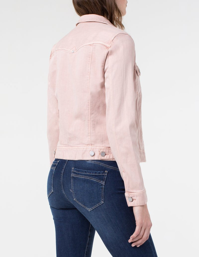 Liverpool Jeans Classic Stretch Denim Jacket in Blush - Saratoga Saddlery & International Boutiques