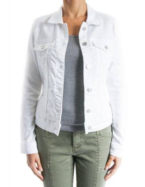 Liverpool Jeans Classic Stretch Denim Jacket in White