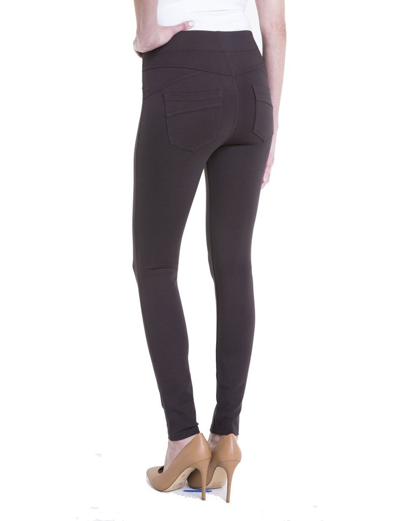 Liverpool Jeans Piper Hugger Legging in Dark Roast