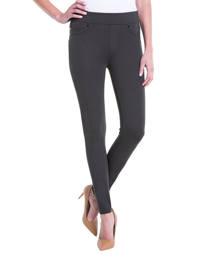 Liverpool Jeans Piper Hugger Legging in Peat Green