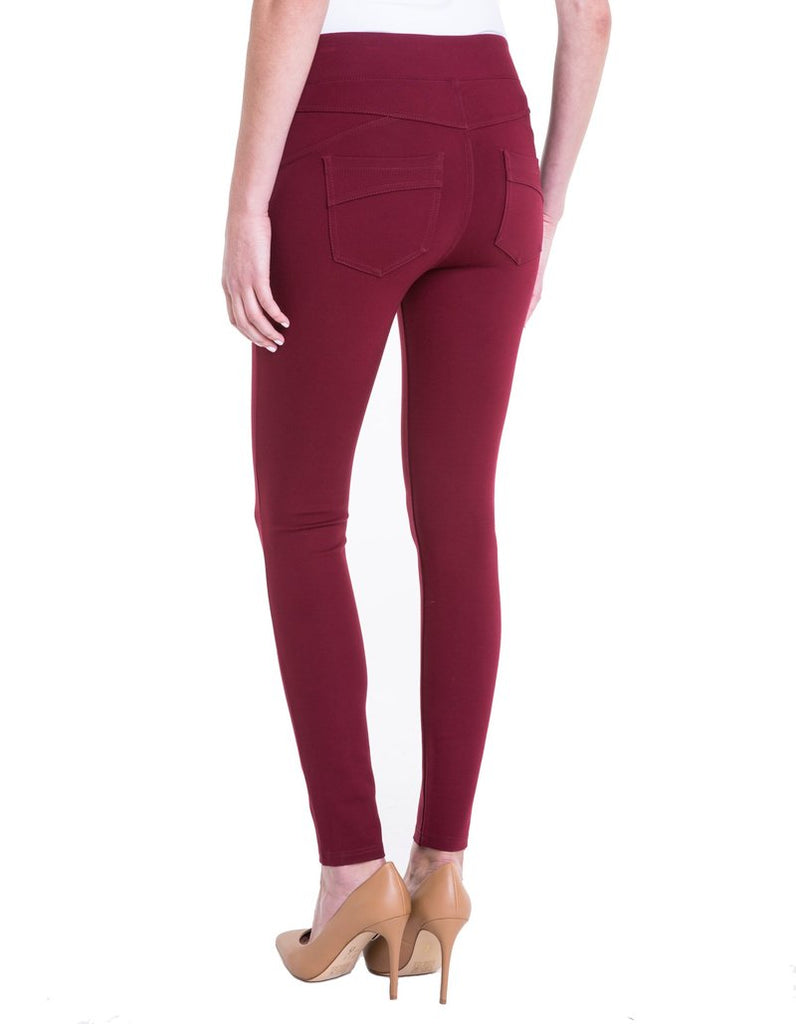 Liverpool Jeans Piper Hugger Legging in Wine