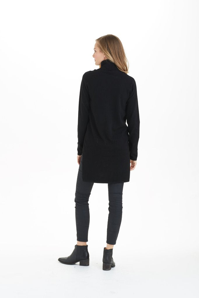 Love Token Juliette Hi-Lo Turtleneck in Black