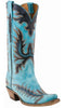 Lucchese Classic Women's Turquoise Cowboy Boot L4727 Featured on YELLOWSTONE with Kevin Costner - Saratoga Saddlery & International Boutiques