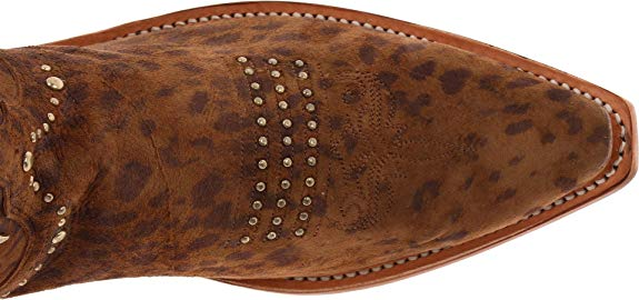 Lucchese 1883 Women's Studded Cowboy Boot in Camel Cheetah M4622