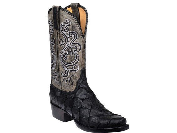 Lucchese Classic Men's Beau Custom Cowboy Boot in Black - Saratoga Saddlery