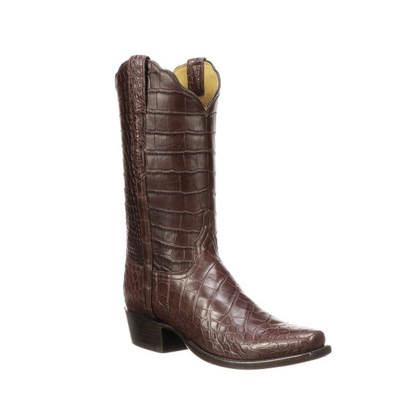 Lucchese Classic Men's Chocolate Brown Baron Alligator Boot GY1012