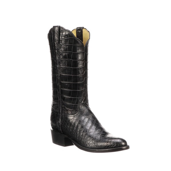 Lucchese Classic Men's Black Baron American Alligator Boot GY1013