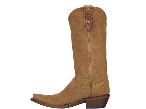 Lucchese M5104 Tori Boot in Light Tan Suede