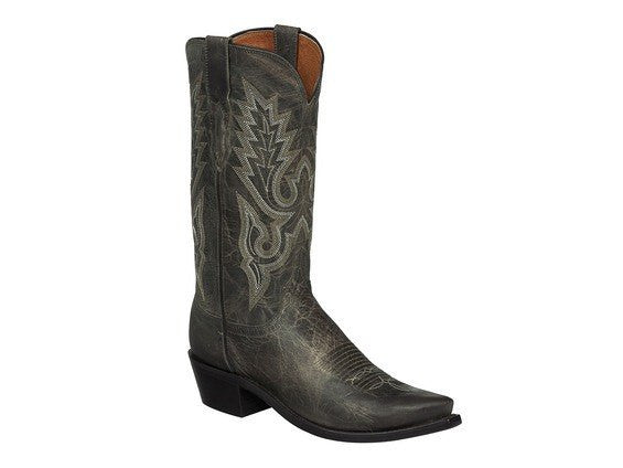 Lucchese Men's Lewis Boot in Madras Goat - M1001 - Anthracite Grey