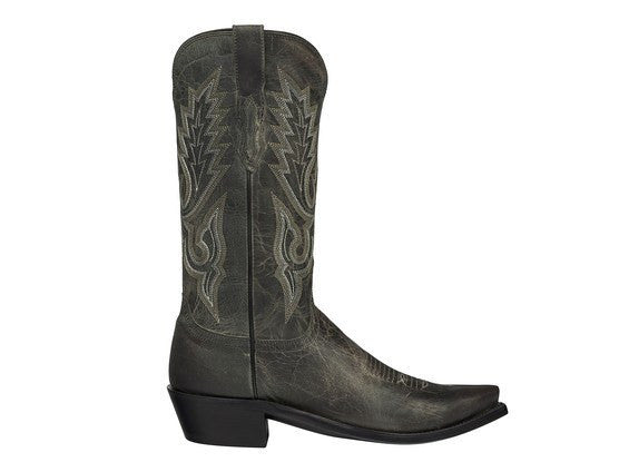 Lucchese Men's Lewis Boot in Madras Goat - M1001 - Anthracite Grey - Saratoga Saddlery & International Boutiques