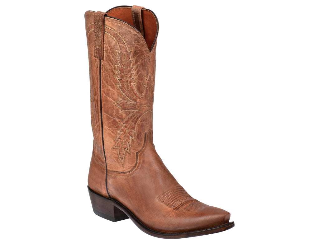 Lucchese Men's N1547.54 Crayton Mad Dog Goat Boot Tan - Saratoga Saddlery