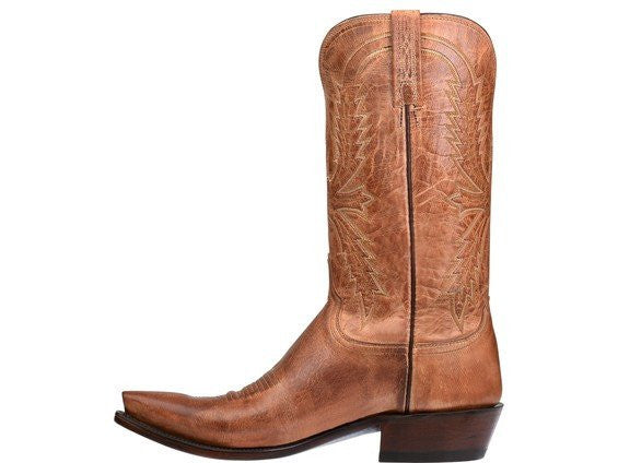 Lucchese Men's N1547.54 Crayton Mad Dog Goat Boot Tan Saratoga Saddlery