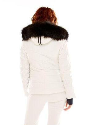 M. Miller Joya Stretch Primaloft Jacket With Natural Finn Racoon White Microtech ON SALE! - Saratoga Saddlery & International Boutiques