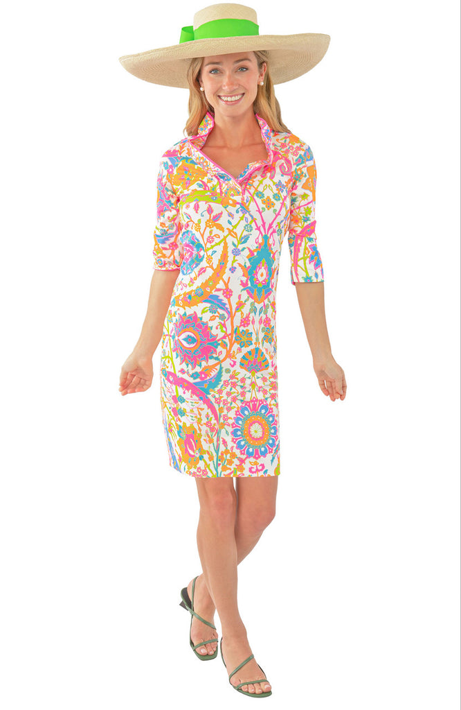 Gretchen Scott Ruffneck Dress Magic Carpet in Brights - Saratoga Saddlery & International Boutiques