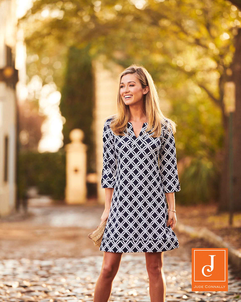 Jude Connally Megan Tunic Dress in Grand Links Navy - FINAL SALE