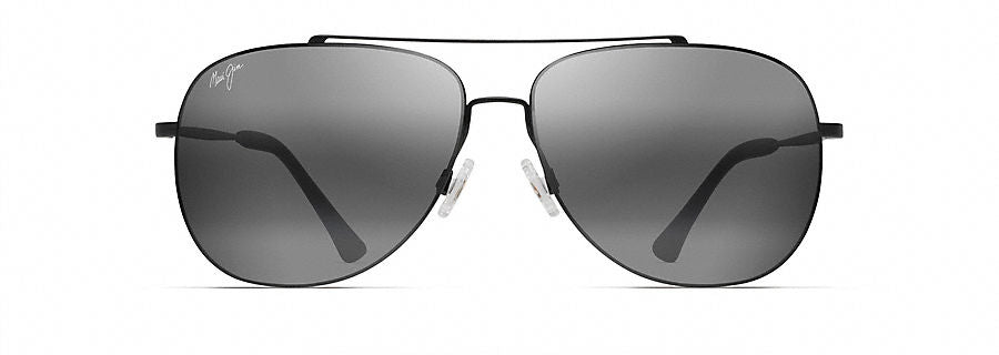 Maui Jim Cinder Cone Sunglasses in Black Matte with Neutral Grey Lens