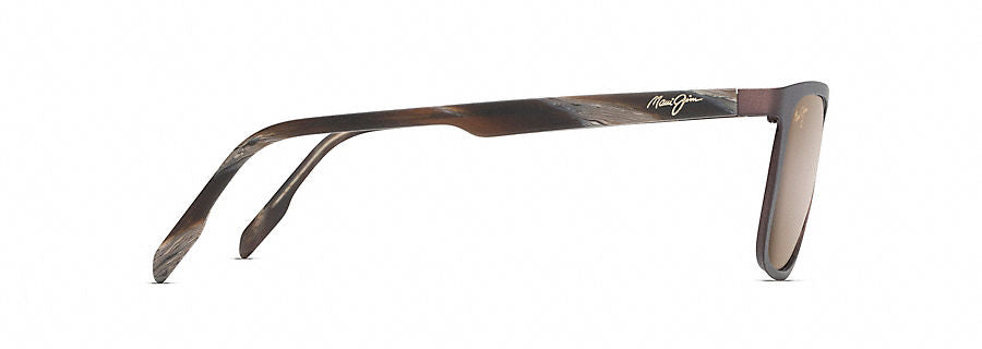 Maui Jim Naupaka Sunglasses in Satin Chocolate with HCL Bronze Lens