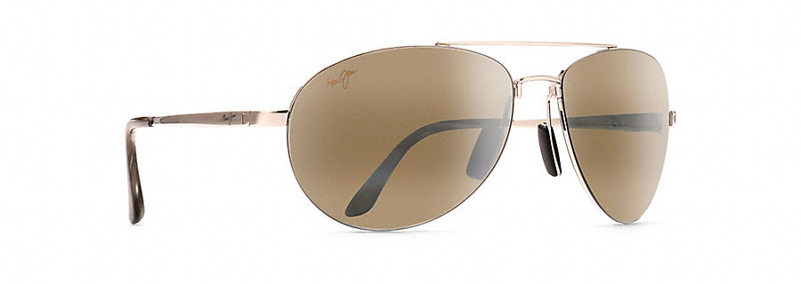 Maui Jim Pilot Sunglasses in Gold with HCL Bronze Lens