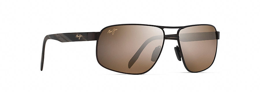Maui Jim Whitehaven Sunglasses in Satin Chocolate with HCL Bronze Lens