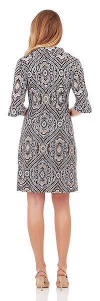 Jude Connally Michelle Dress in Paisley Medallion Black - FINAL SALE