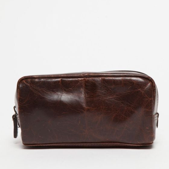 Moore & Giles George Mini Dopp Kit in Brompton Brown