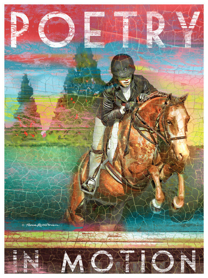 My Town Art Lithograph 12 x 16 - POETRY in MOTION - Saratoga Saddlery & International Boutiques
