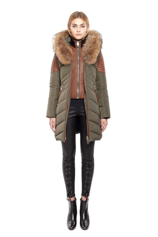 Nicole Benisti Women's JK9061 Roxy Jacket with Natural Fur