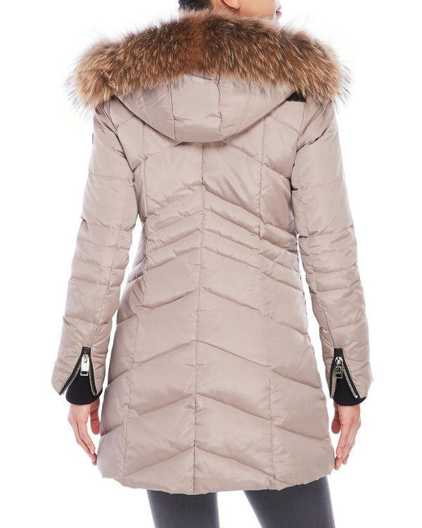 Nicole Benisti Women's JK9061 Roxy Jacket in Pebble with Natural Fur Saratoga Saddlery