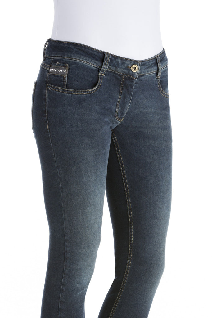 Animo NORTY Slim Jeans with Rhinestones details