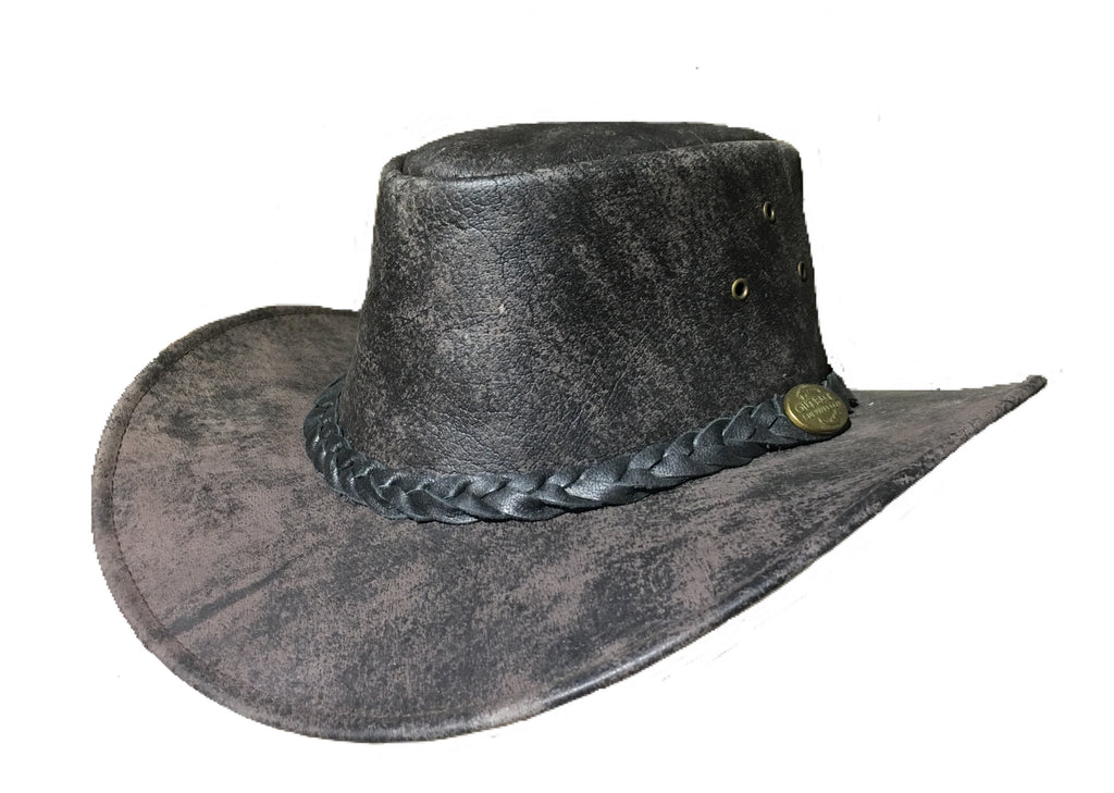 Outback Survival Gear - Maverick Leather Hat in Coffee Rock (H4001) - Saratoga Saddlery & International Boutiques