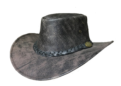 Kangaroo Leather Hat- Bone Softy Outback Survival Gear