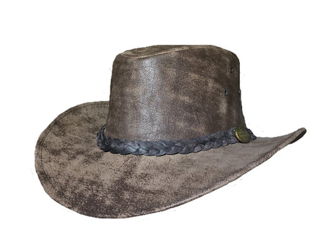 Outback Survival Gear - Maverick Crusher Hat in Coffee Rock (H4001)