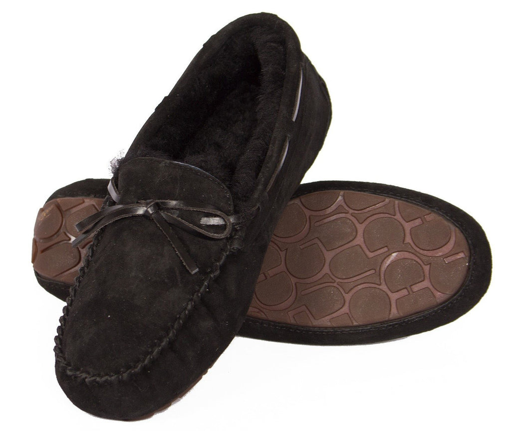 sheepskin slipper black Outback Survival Gear Women's Devon Moccasin Slipper
