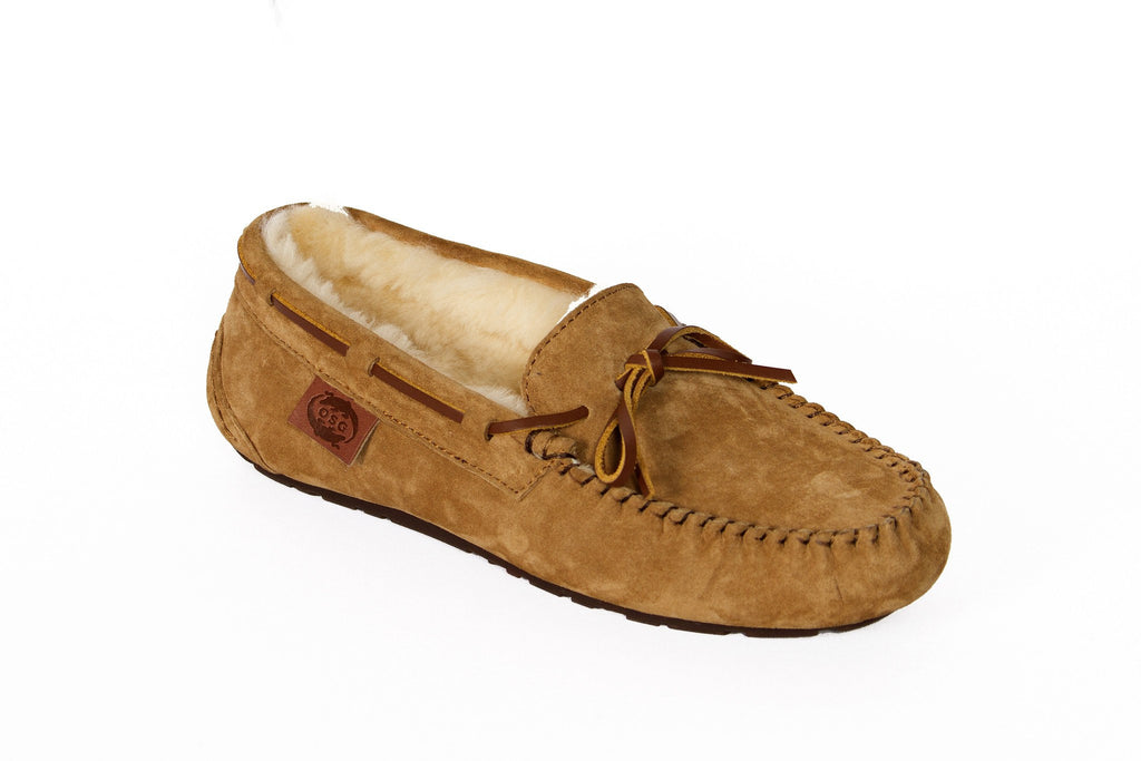 Outback Survival Gear Women's Devon Moccasin Slipper Chestnut - Saratoga Saddlery
