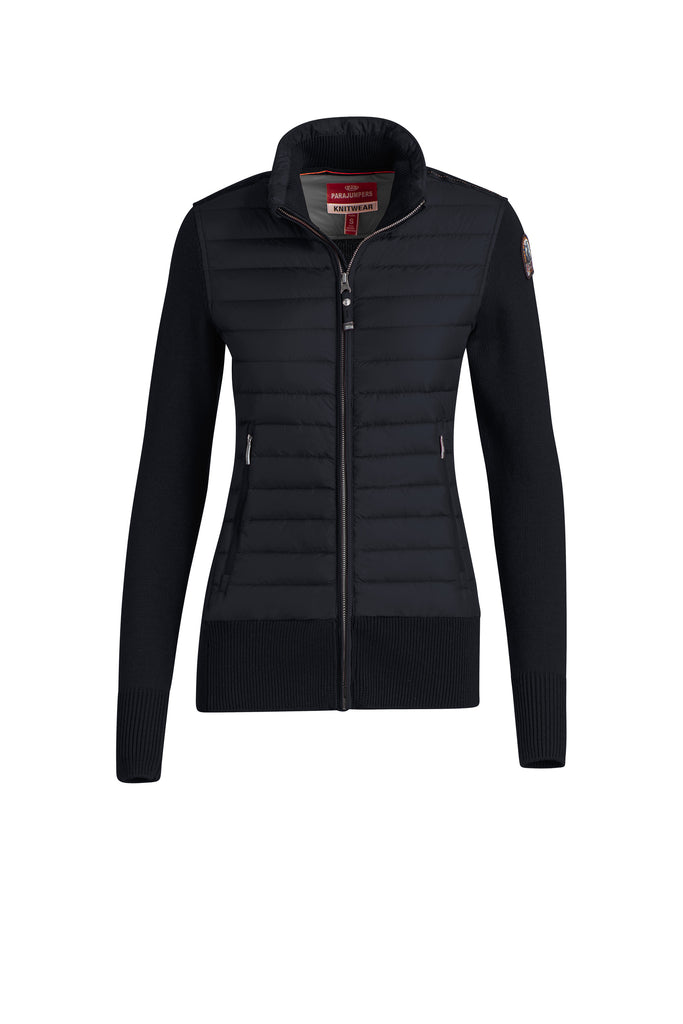 Parajumpers Women's Aput Knit Down Jacket in Blue-Black - Saratoga Saddlery & International Boutiques