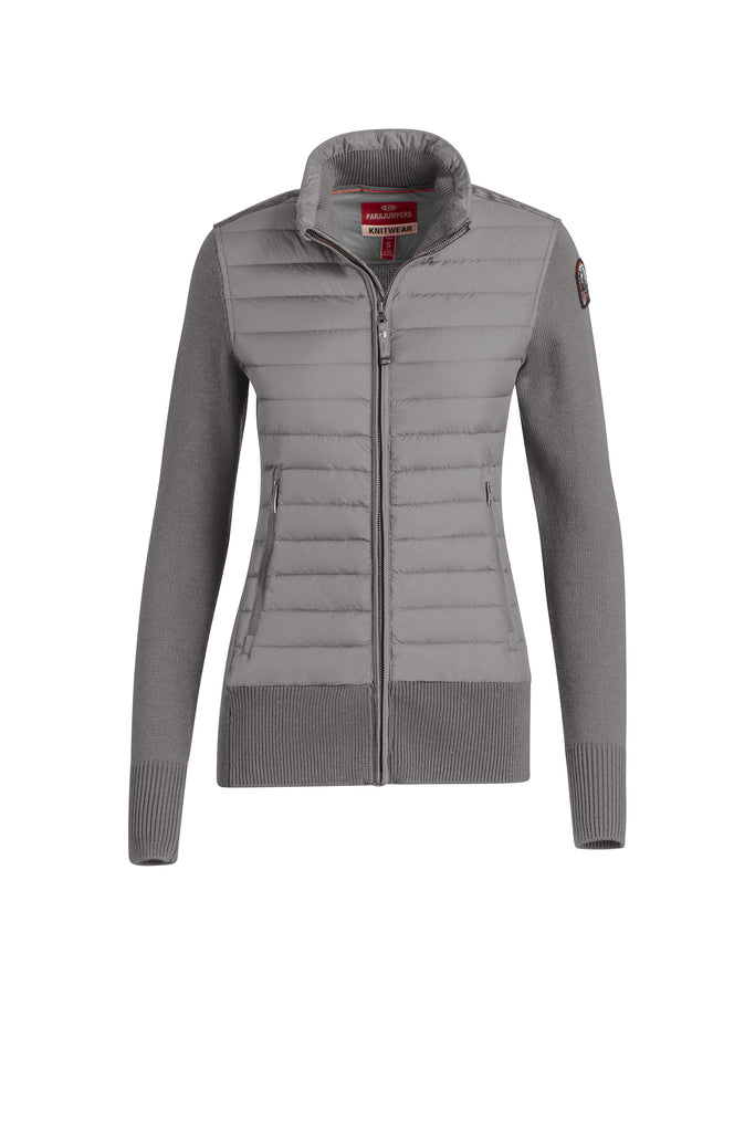 Parajumpers Women's Aput Knit Down Jacket in Grey Melange