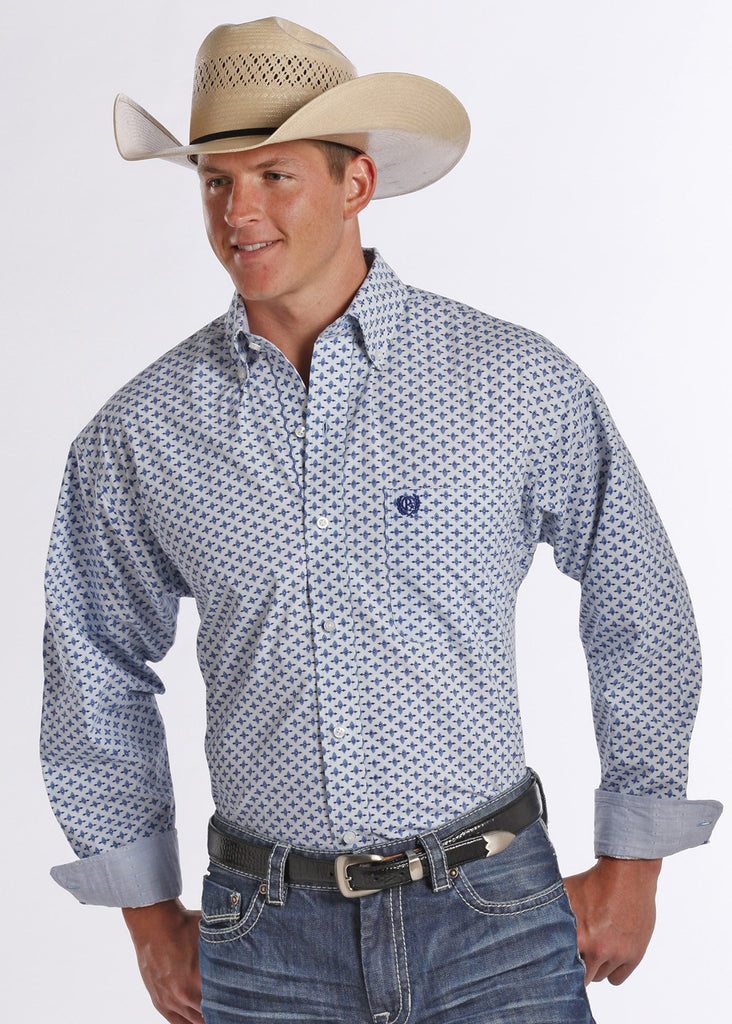 Panhandle Slim Men's Peached Poplin Button Down Shirt - Saratoga Saddlery & International Boutiques