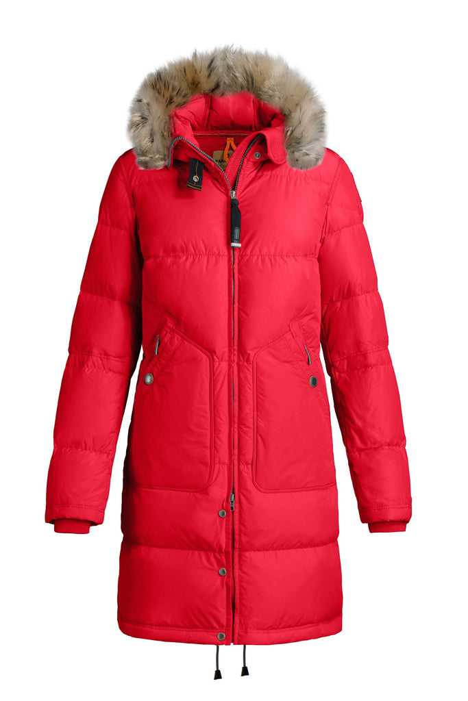 Parajumpers Women's Light Long Bear Eco Coat in Red - LAST ONE 40 % OFF ON SALE! - Saratoga Saddlery & International Boutiques