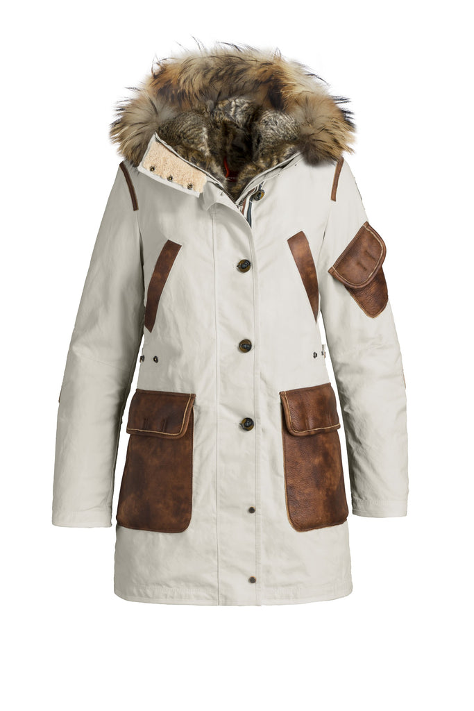 ... Parajumpers Women's Nicole Parka in Chalk ...